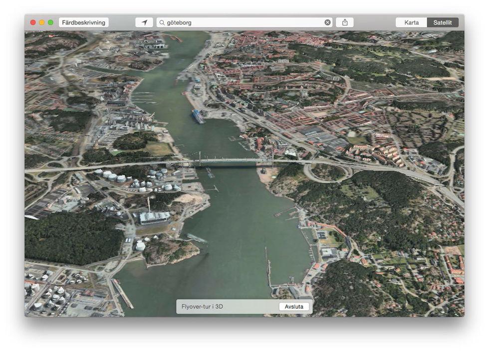 Nu kan du kolla in Göteborg i 3D med Apple Maps