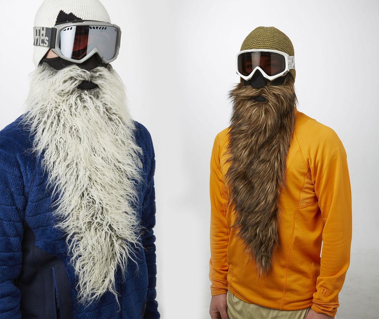 Kör massivt skägg i skidbacken