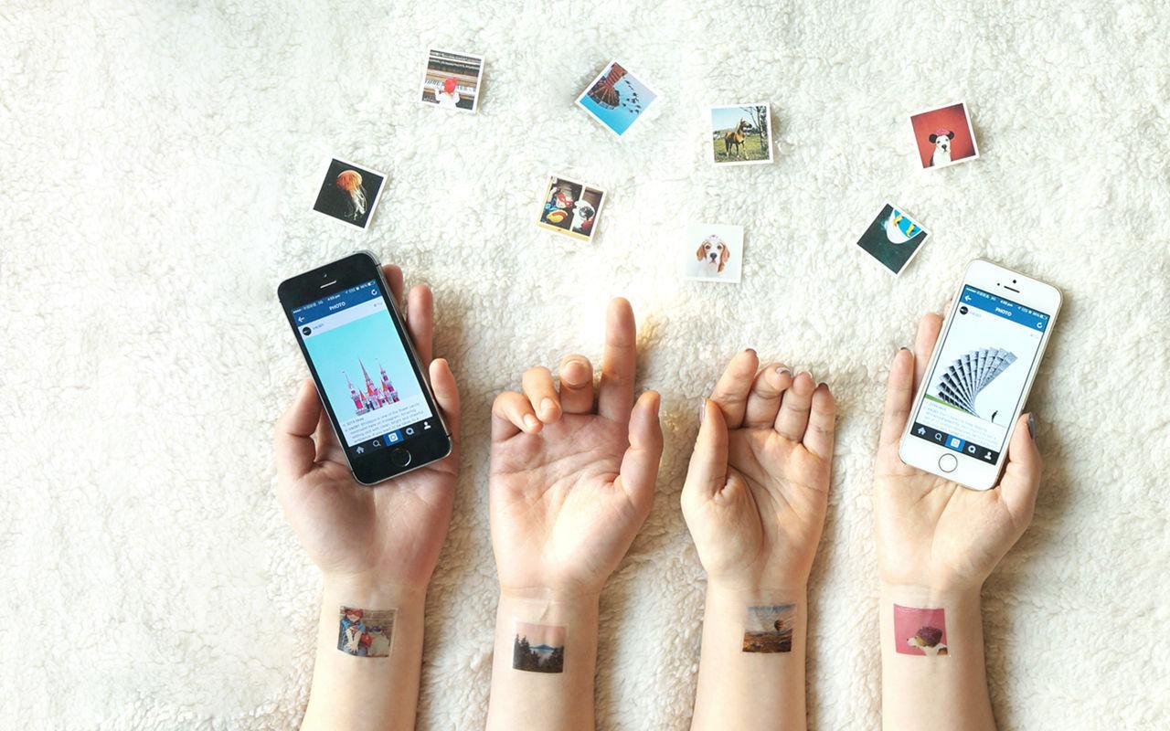 Gör tatueringar av instagrambilder