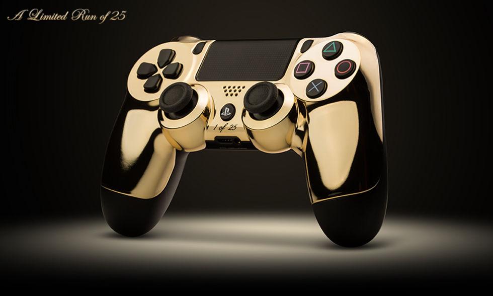 Guldpläterade handkontroller till de nya konsolerna