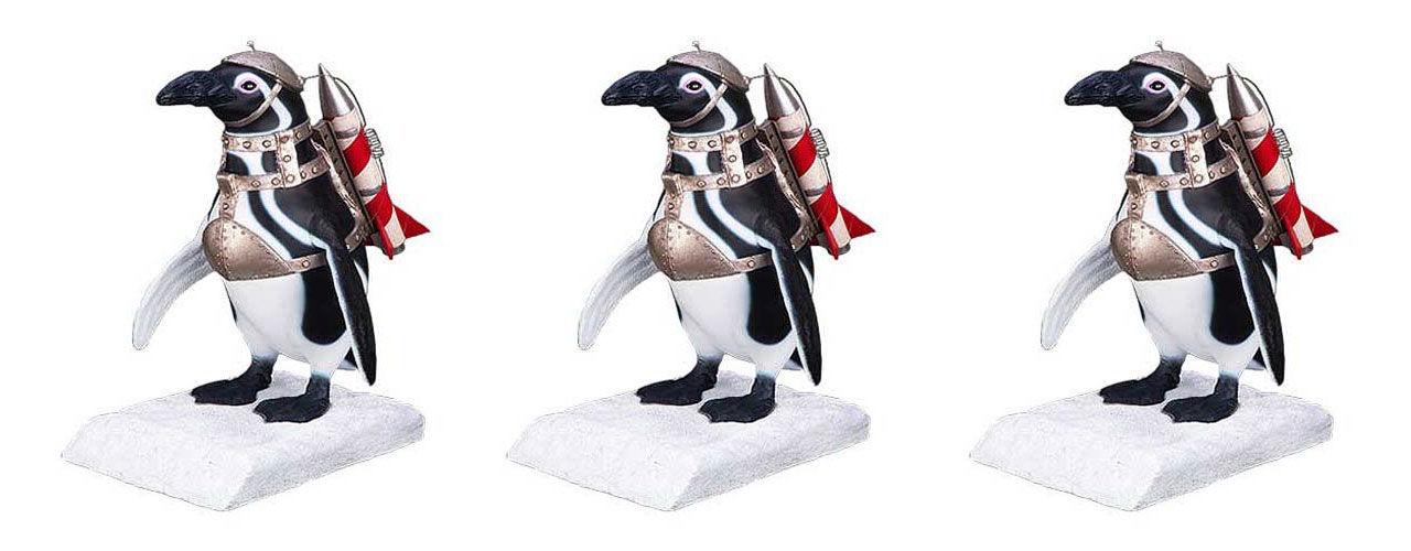 Pingviner från Batman Returns som staty
