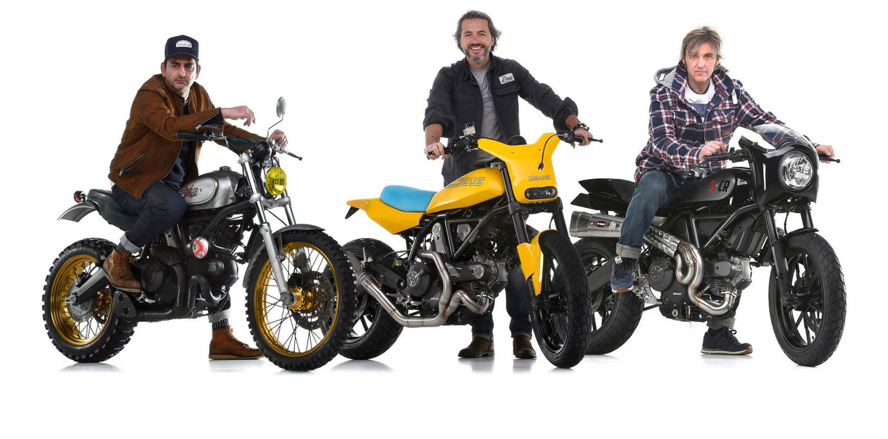 Nya Ducati Scrambler i tre olika skepnader