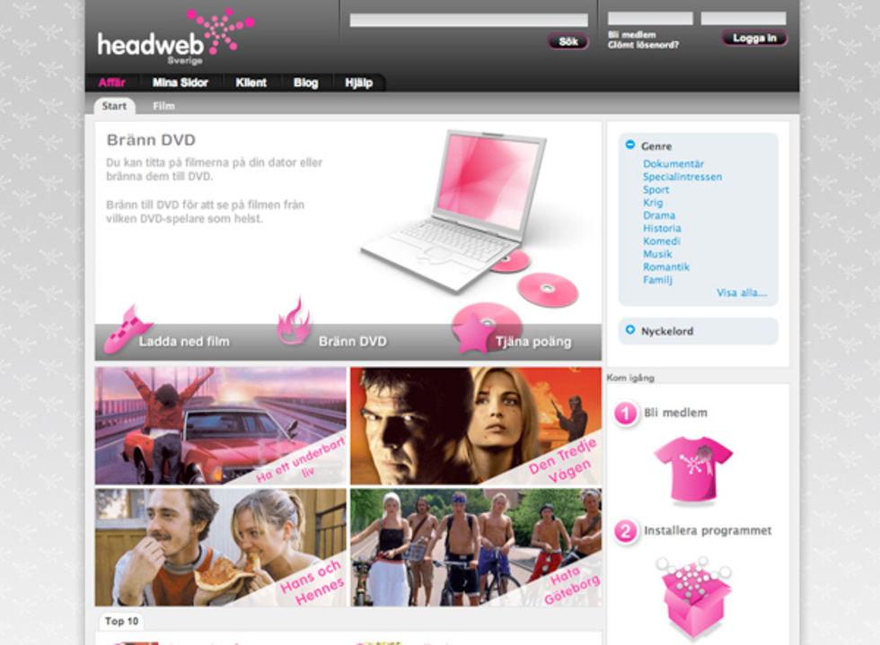 Headweb lanserar i Sverige