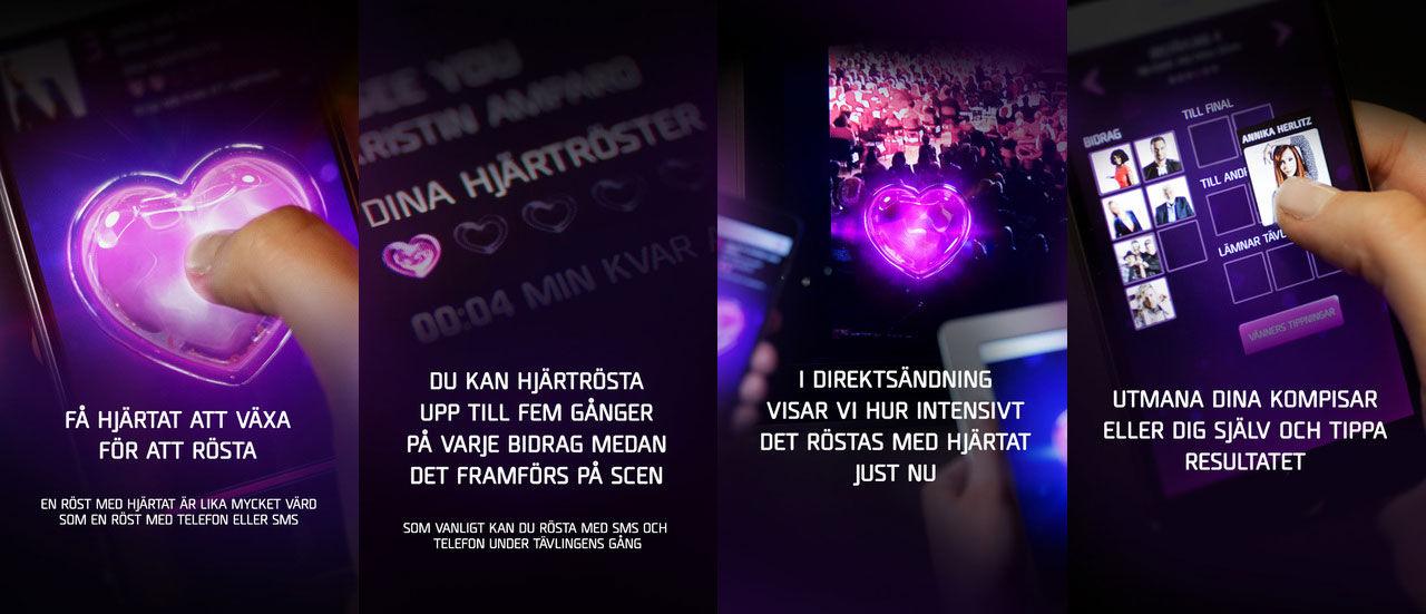 App till Melodifestivalen släppt