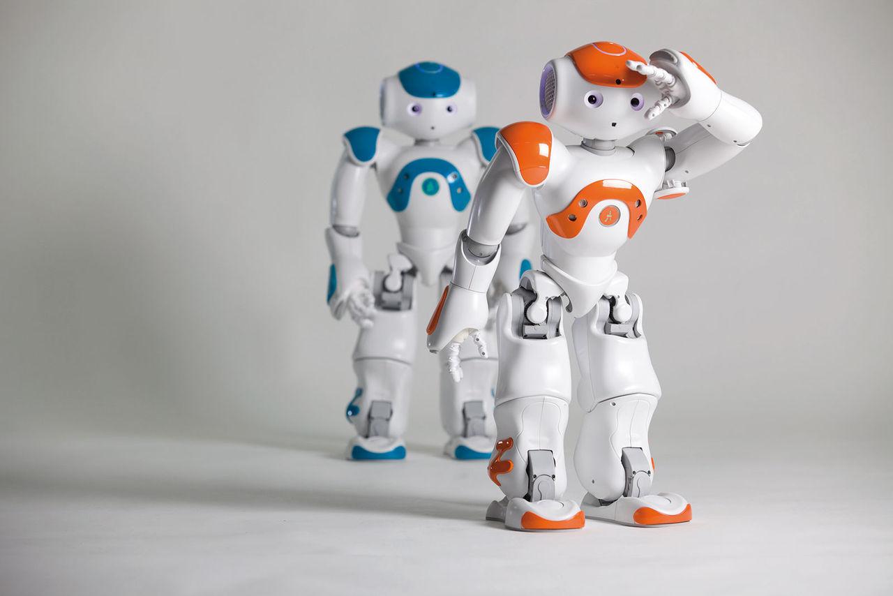 Roboten Nao börjar jobba på bank
