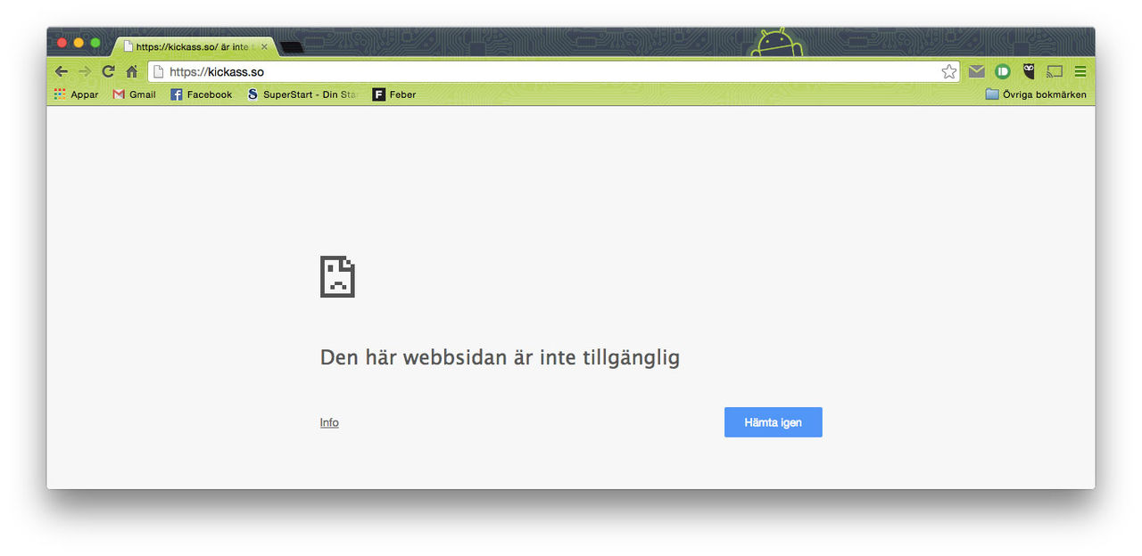 KickassTorrents borta från nätet