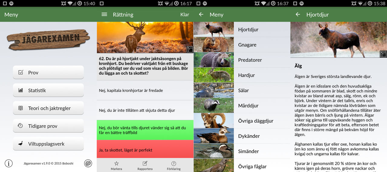 Jägarexamen 2.0 släppt till Android