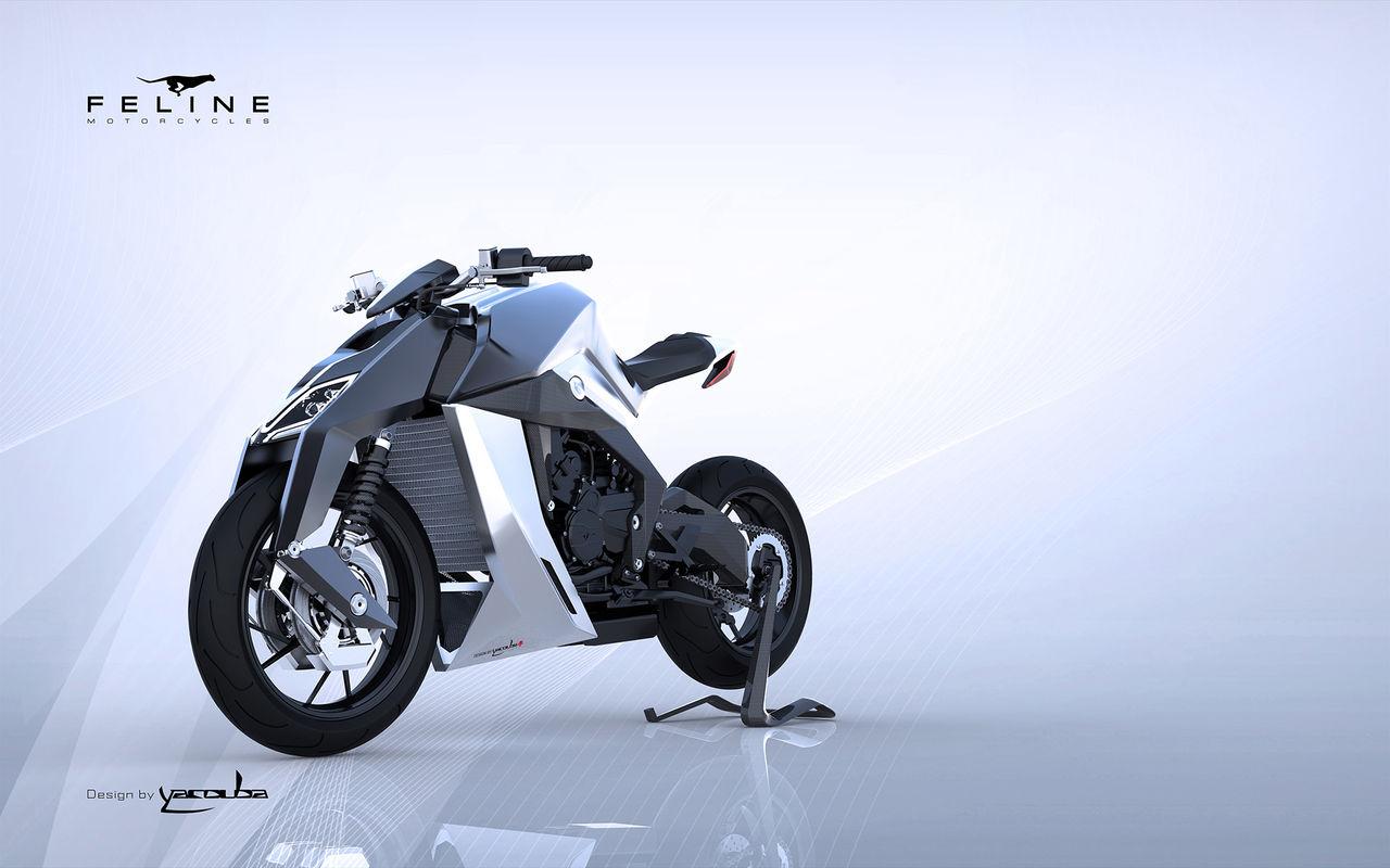 Yacouba Feline One - lyxig framtidsmotorcykel