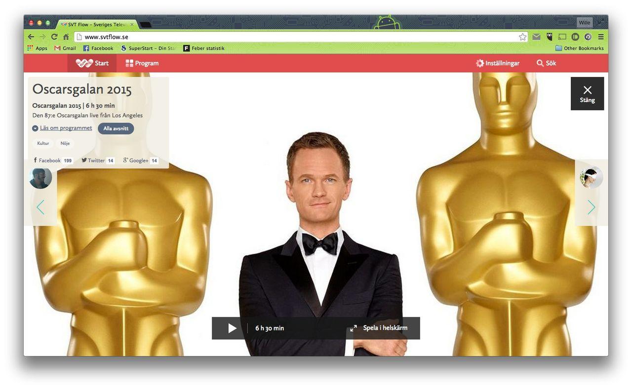 Se Oscarsgalan på SVT Play och SVT Flow