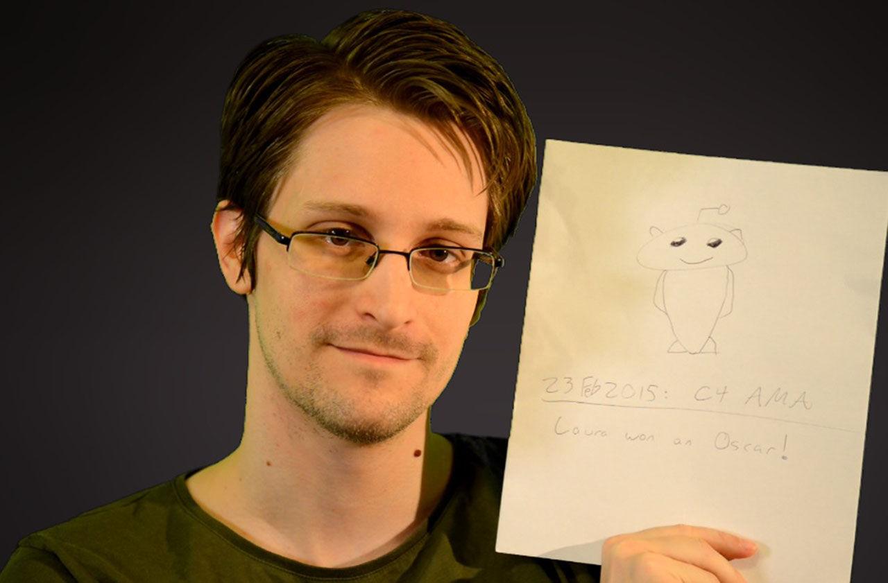 Edward Snowden svarar på frågor på Reddit