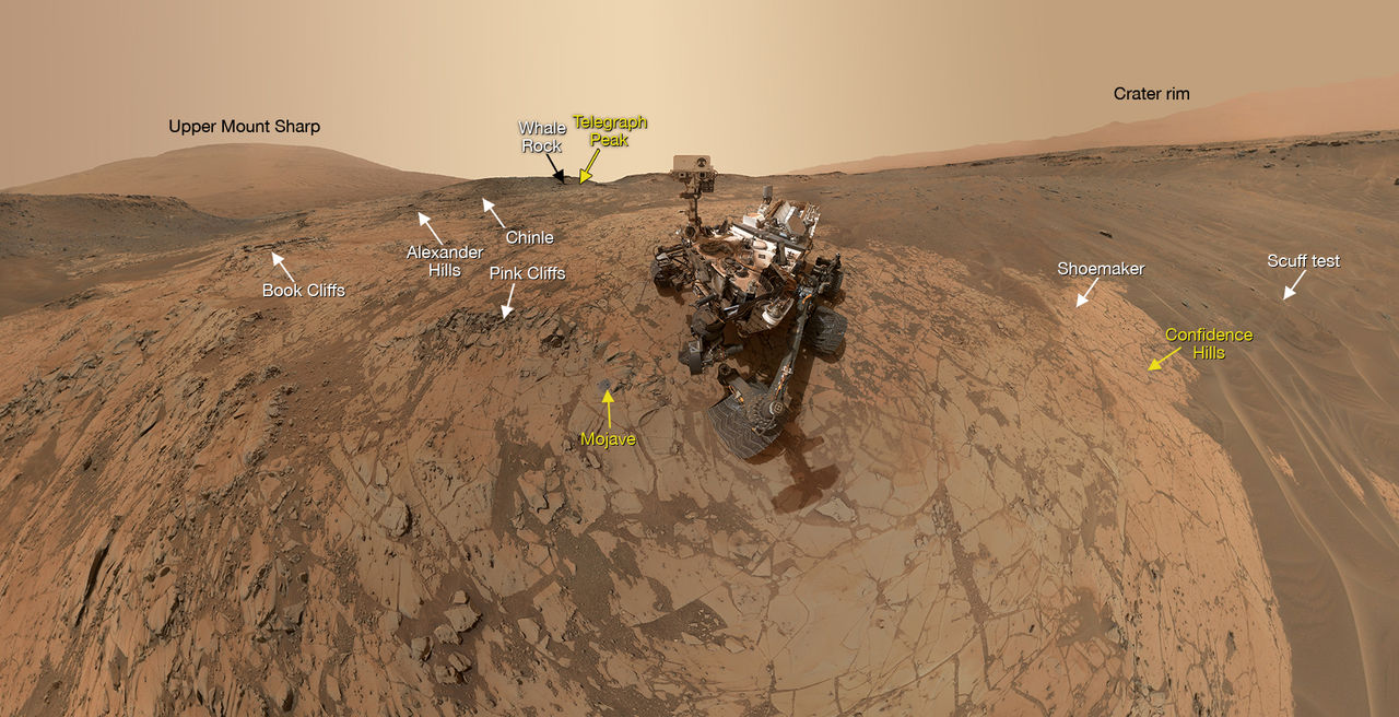 Curiosity tar ännu en selfie