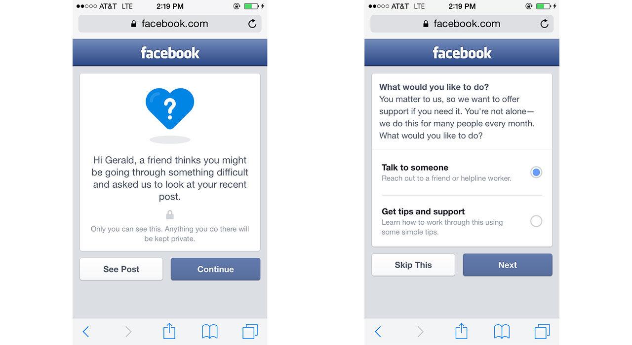 Facebook lanserar verktyg för att förhindra självmord