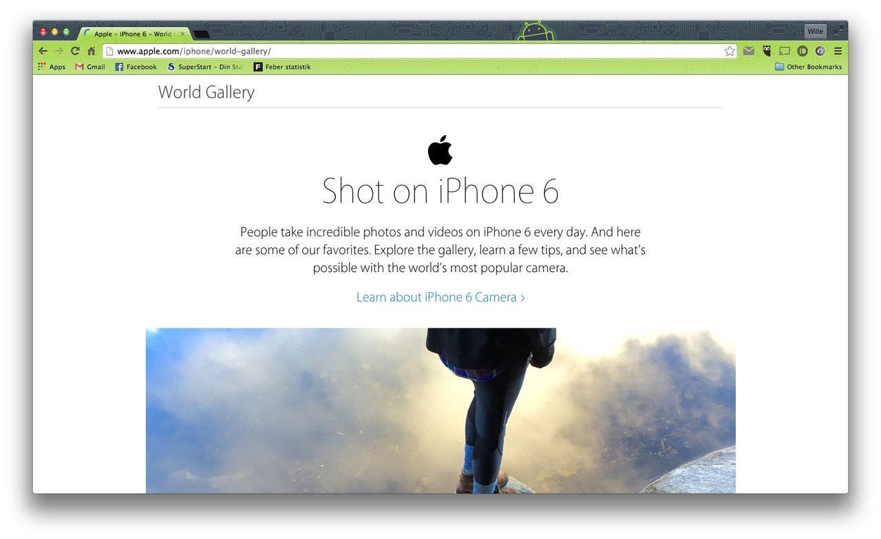 Apple släpper fotogalleri med bilder tagna av iPhone 6-användare