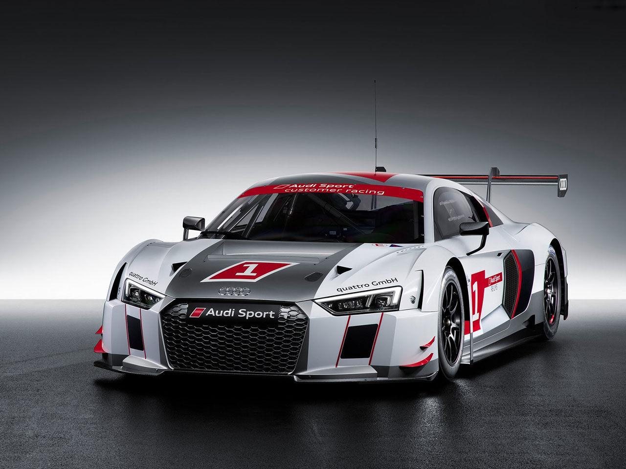 Nya Audi R8 i tävlingsskrud