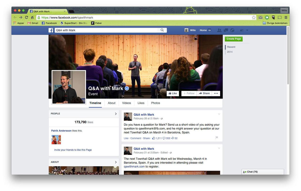 Lyssna på Mark Zuckerberg på Mobile World Congress