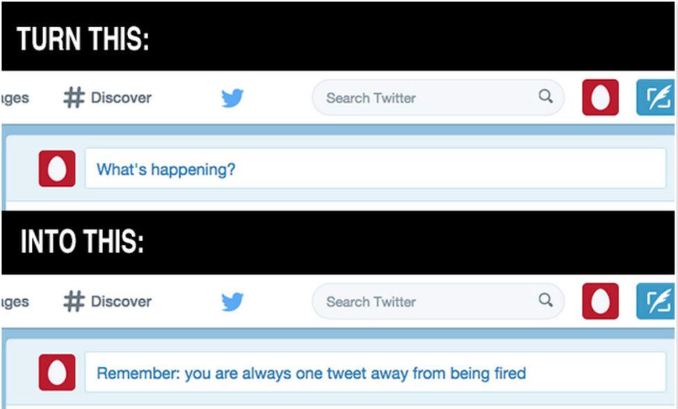 TweetFired hjälper dig att behålla jobbet