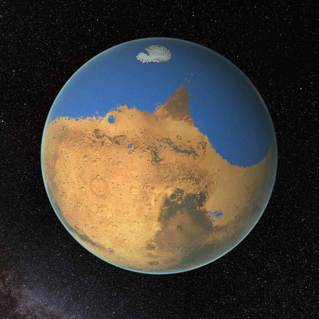 Mars kan ha haft en ocean med vatten