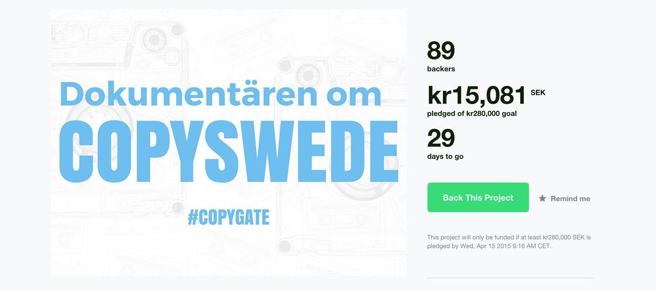 Kickstarter-kampanj för dokumentär om Copyswede