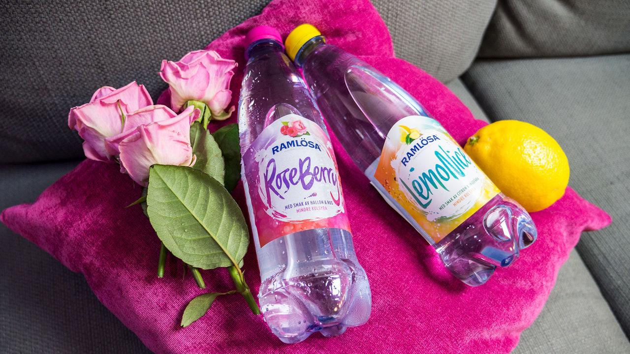 Ramlösa har tryckt in ros och ingefära i nytt vatten