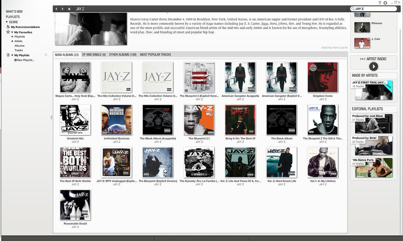 Jay Z:s debutalbum Reasonable Doubt borta från Spotify