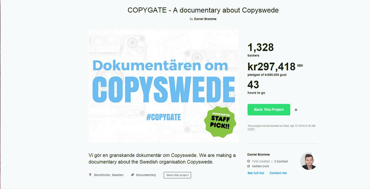 Dokumentären om Copyswede blir verklighet