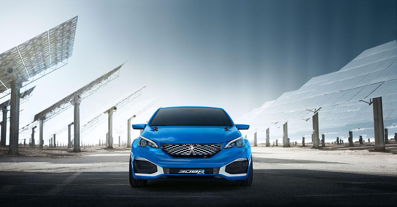 Peugeot visar fyrhjulsdrivet koncept med 500 hästar