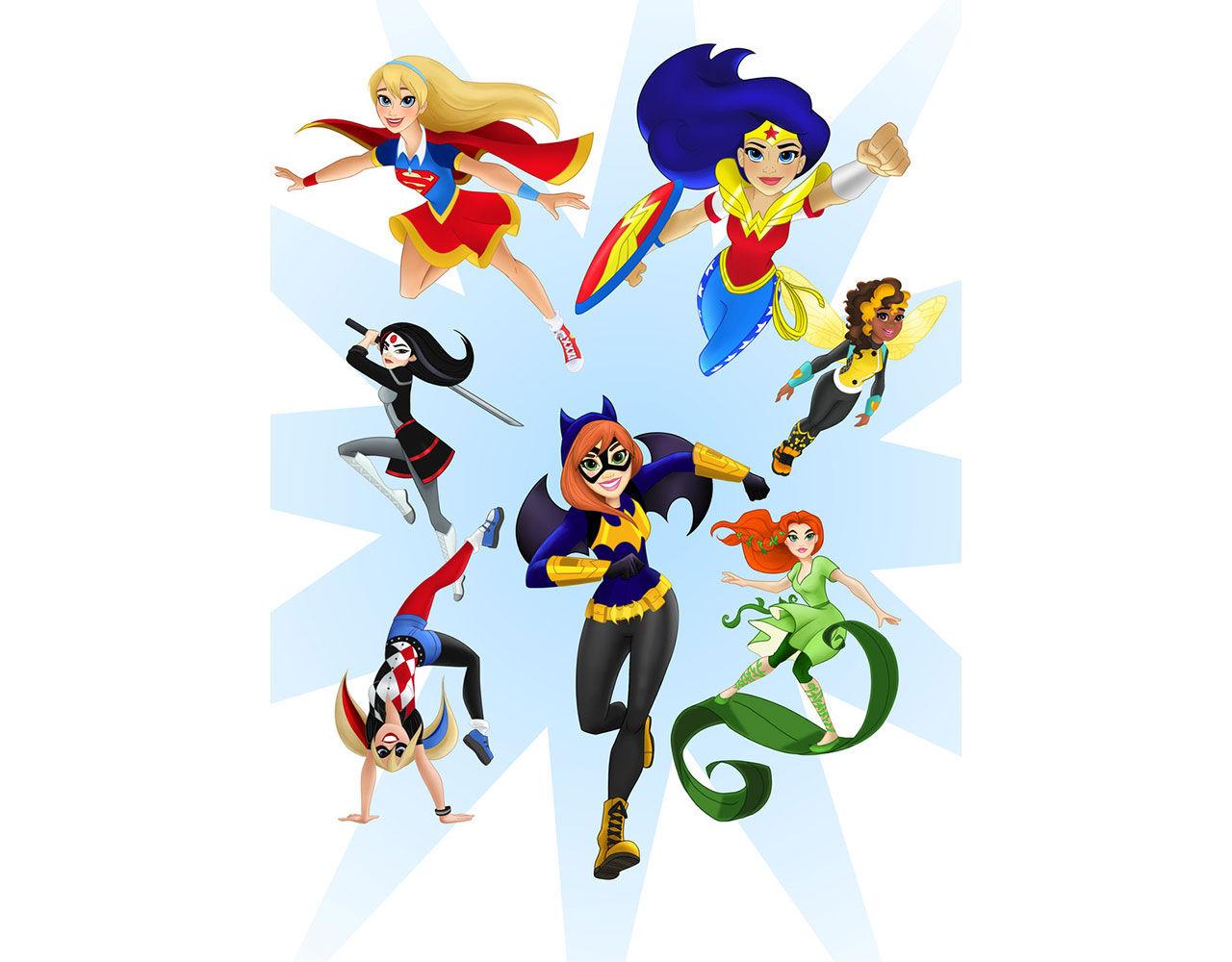 Kvinnliga superhjältar designas om för att tilltala flickor