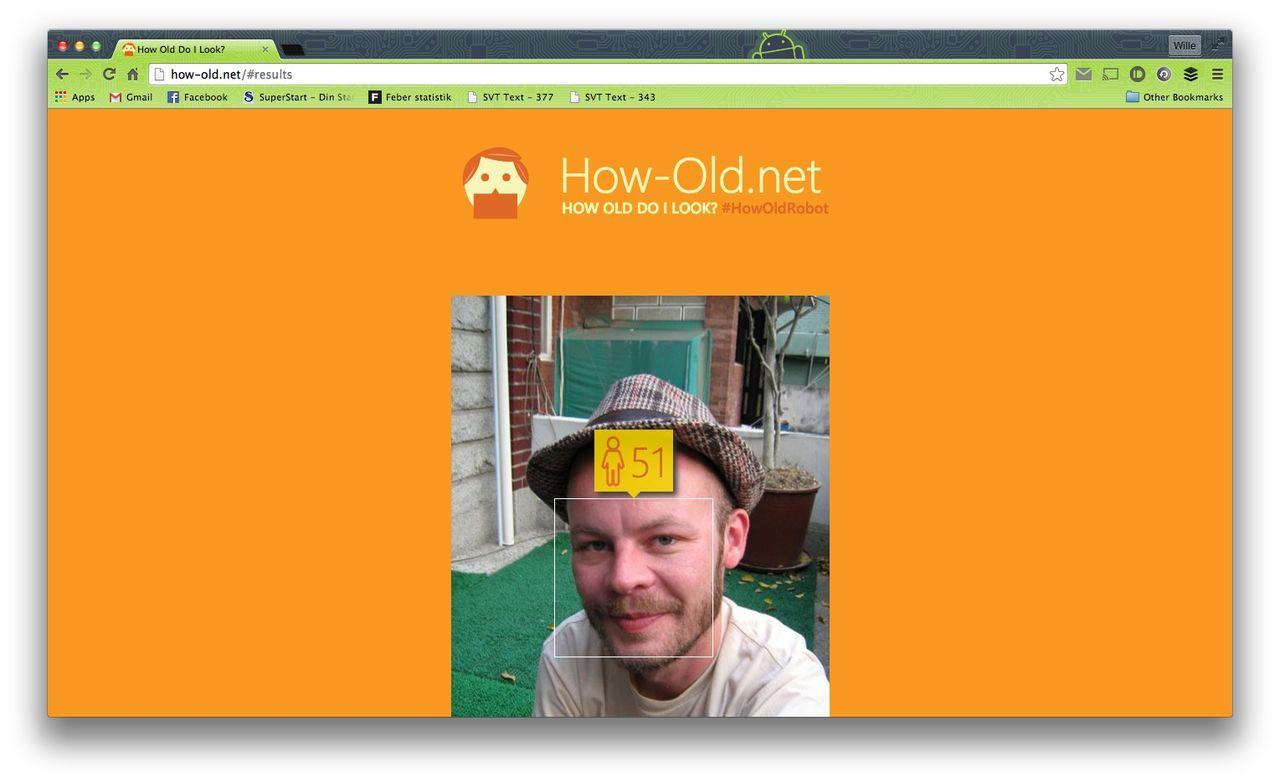 Webbtjänst avgör din ålder om du laddar upp ett foto