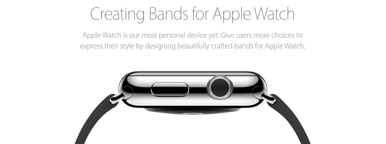 Apple tar fram riktlinjer för klockarmband till Apple Watch