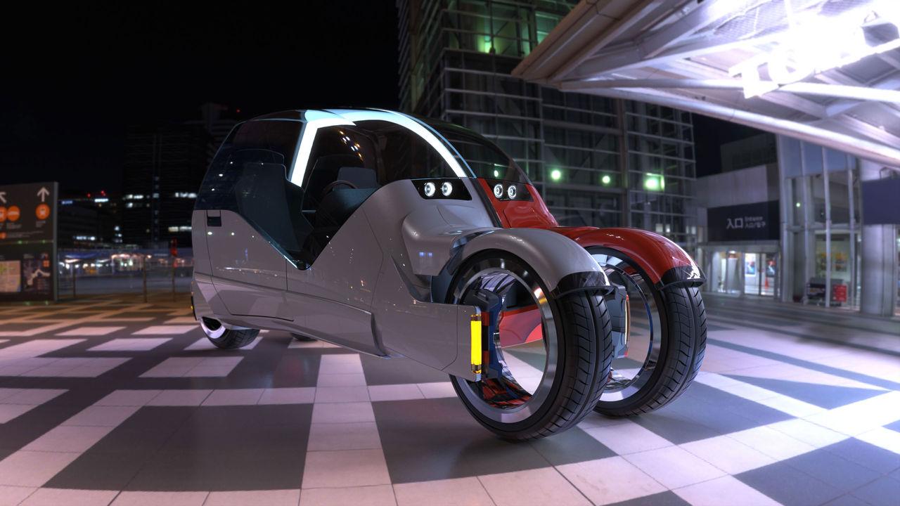 Bilen som blir två motorcyklar