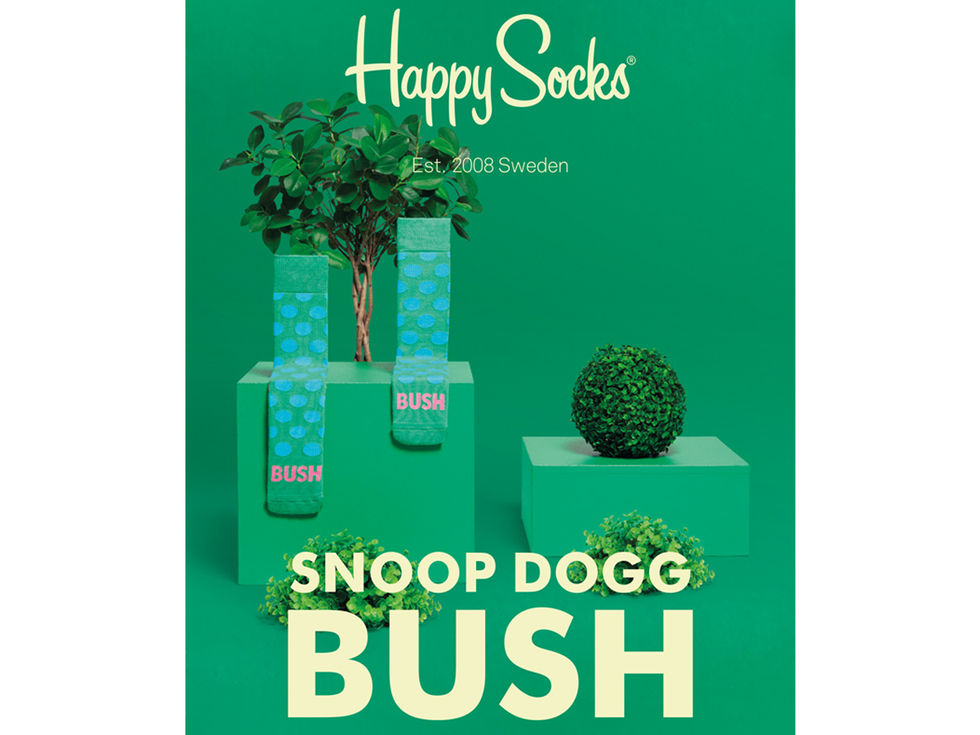 Happy Socks gör Bush-strumpor