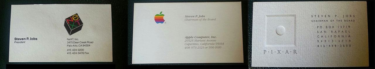 Tre av Steve Jobs gamla visitkort sålda för nästan 90.000 kronor