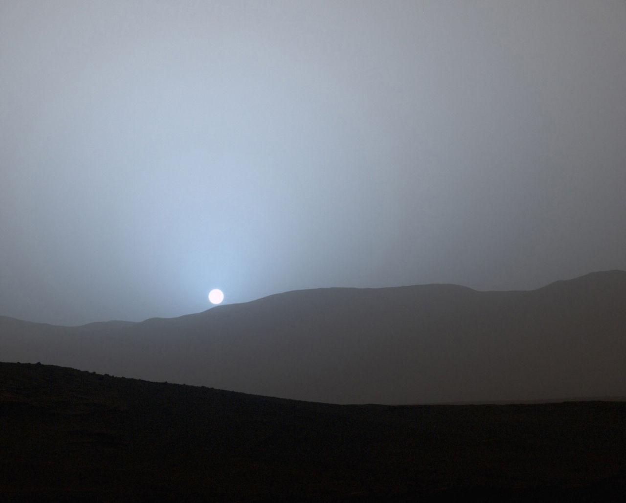 Solnedgång på Mars