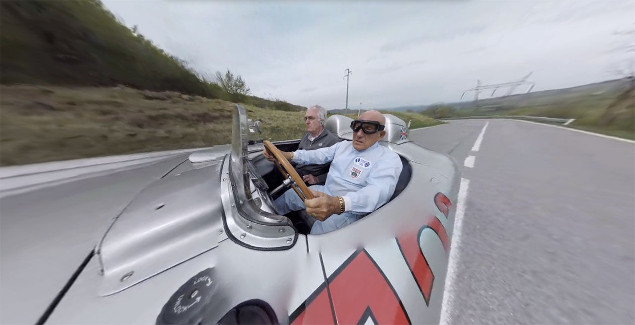 Häng med Stirling Moss på Mille Miglia