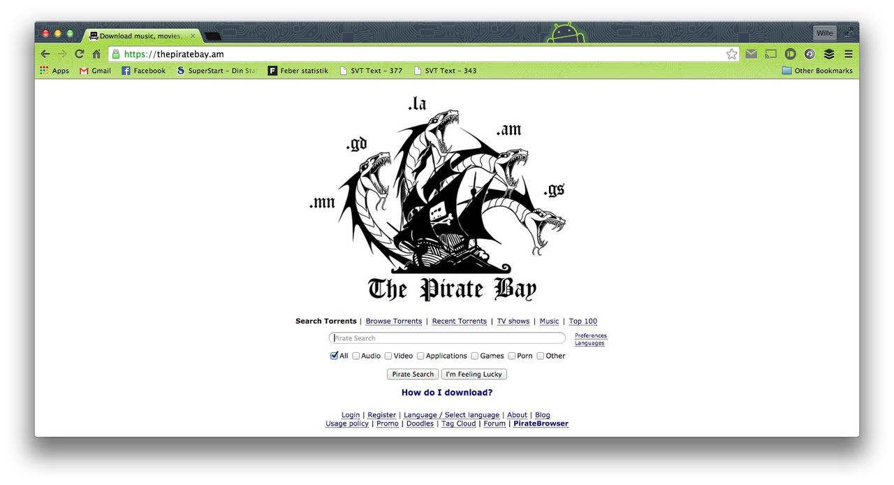 The Pirate Bay har lämnat thepiratebay.se