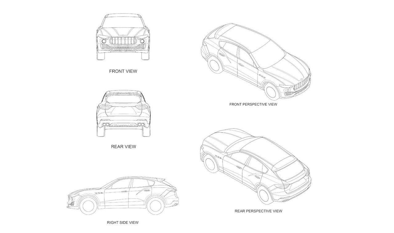 Patentritningar för Maserati Levante läcker ut