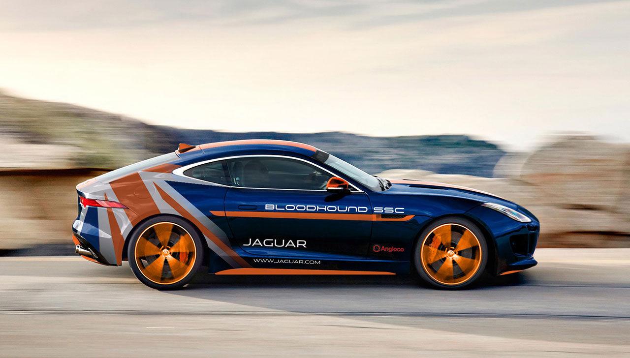 Jaguar F-Type R AWD ska hjälpa Bloodhound SSC