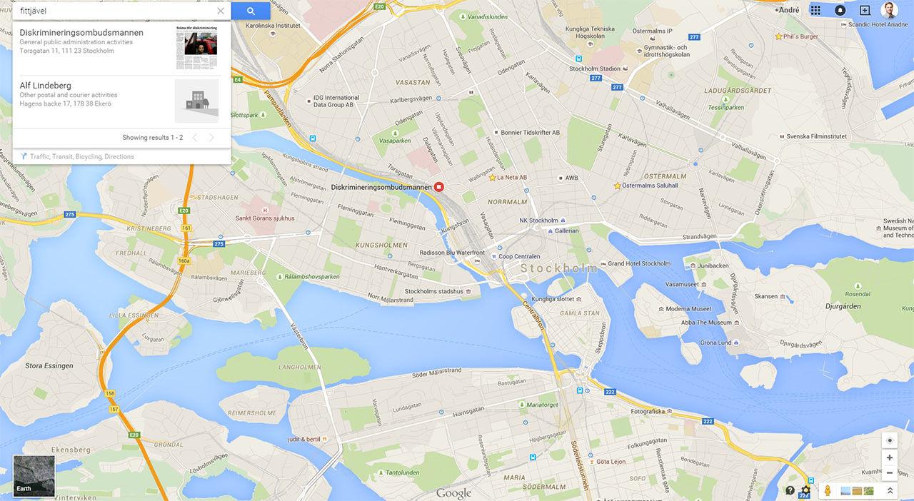 Krankande Fraser Tar Dig Till Riktiga Platser I Google Maps Aven