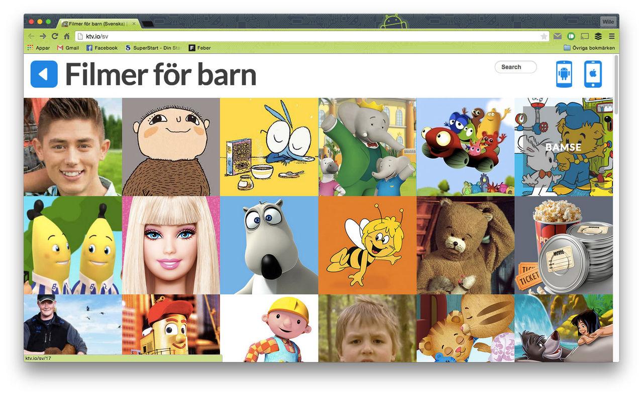 Kids TV -ny tjänst för barnfilmer på YouTube