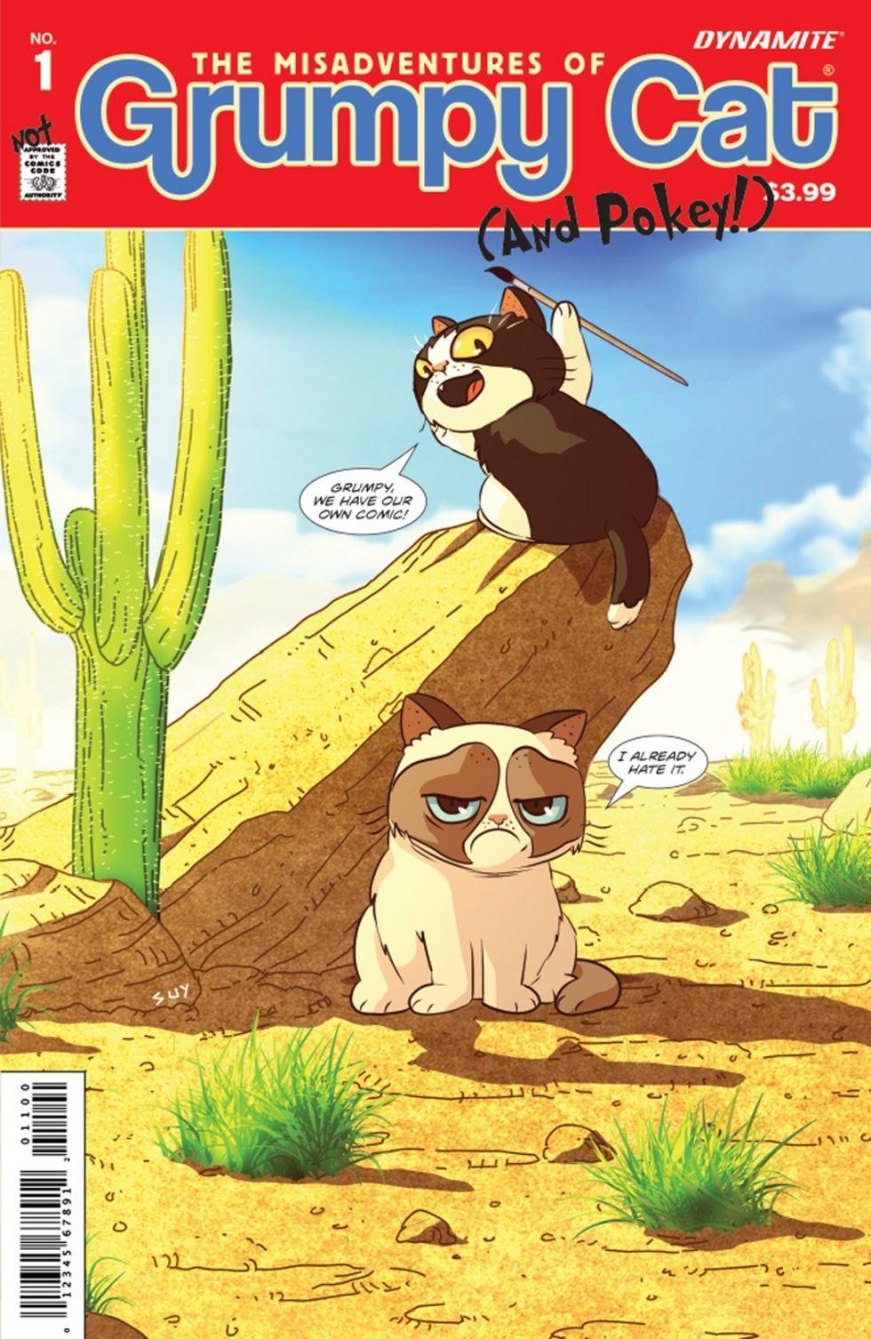 Grumpy Cat får en serietidning