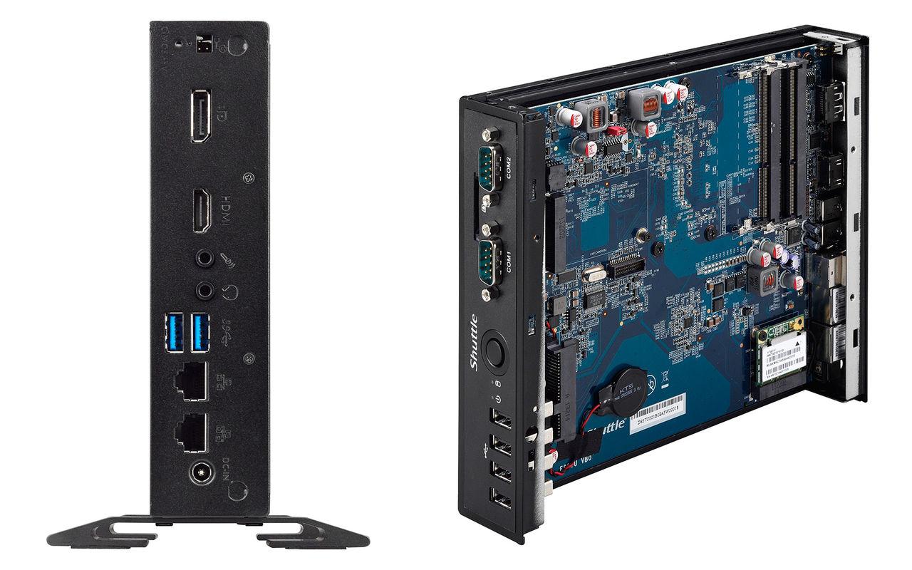 Shuttle släpper tre nya fläktlösa datorer med Broadwell