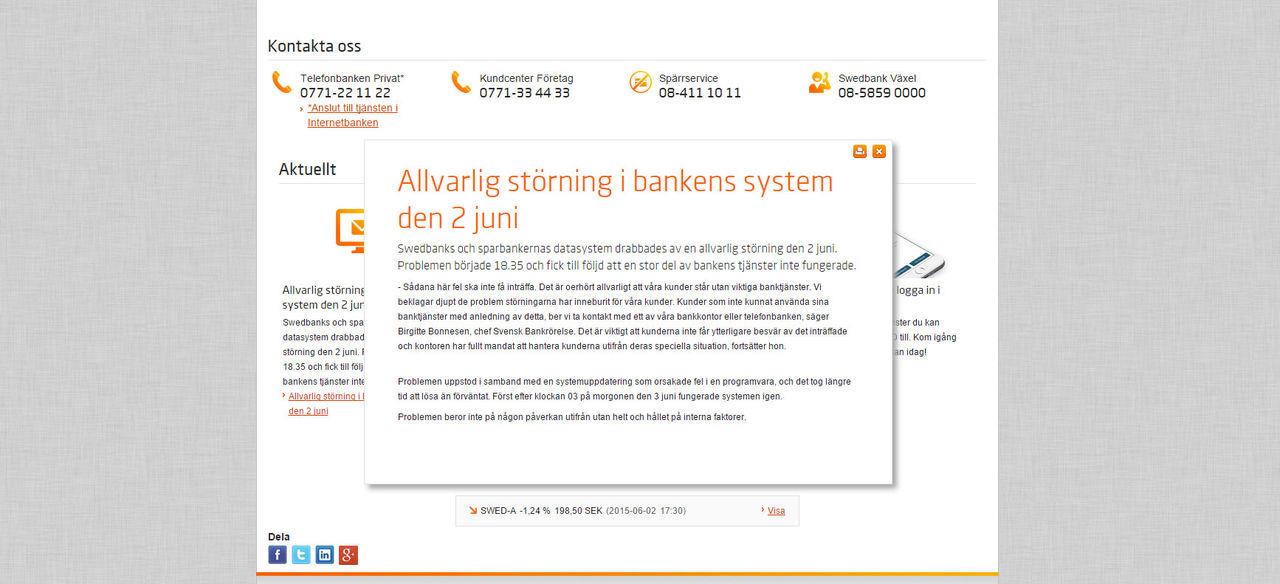 Swedbank är uppe igen