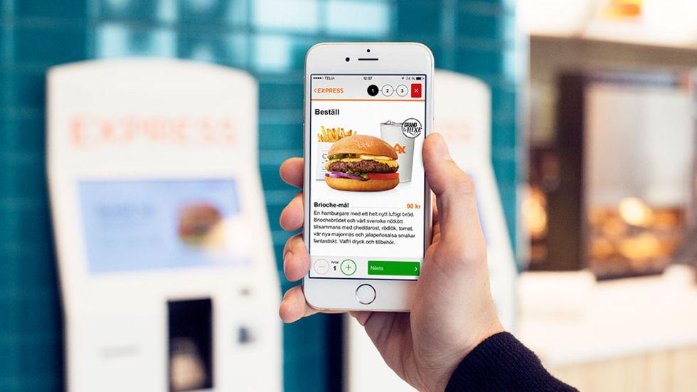 Beställ och betala burgaren via mobilen på Max