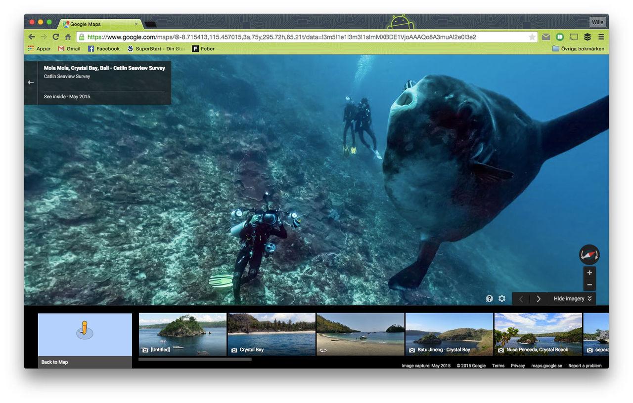 Google Maps Street View dyker under ytan