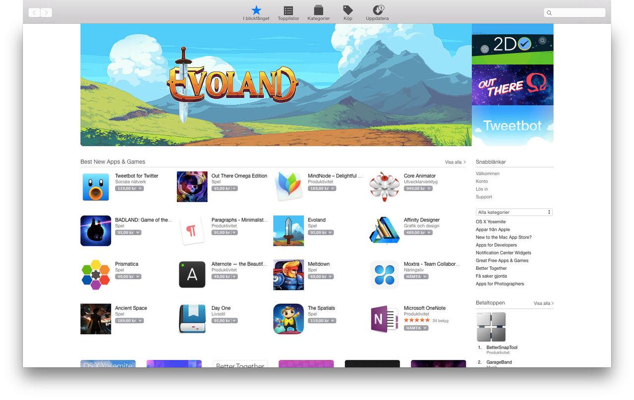 Apple sänker avgiften för vissa grejer i App Store