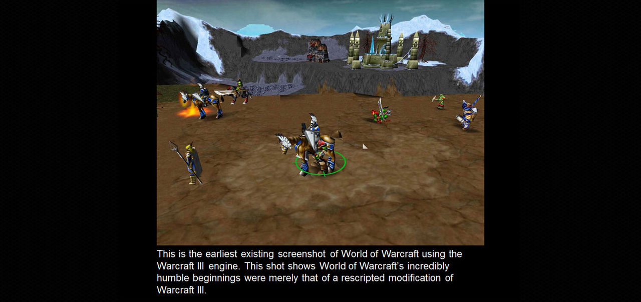 Kolla in den absolut första skärmdumpen från WoW
