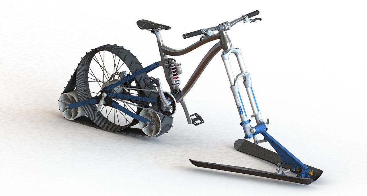 En mountainbike för vintern