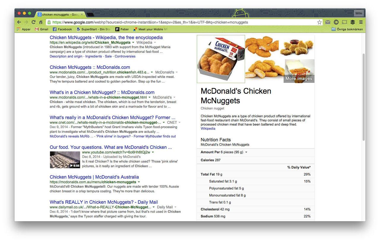 Nu kan Google berätta hur många kalorier det finns i en Big Mac