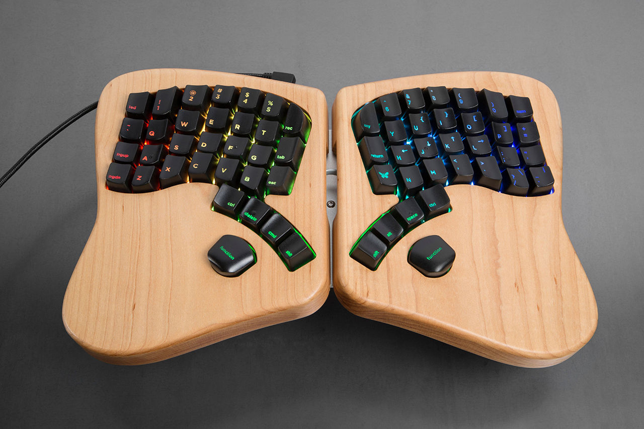 Keyboardio är ett ergonomiskt tangentbord