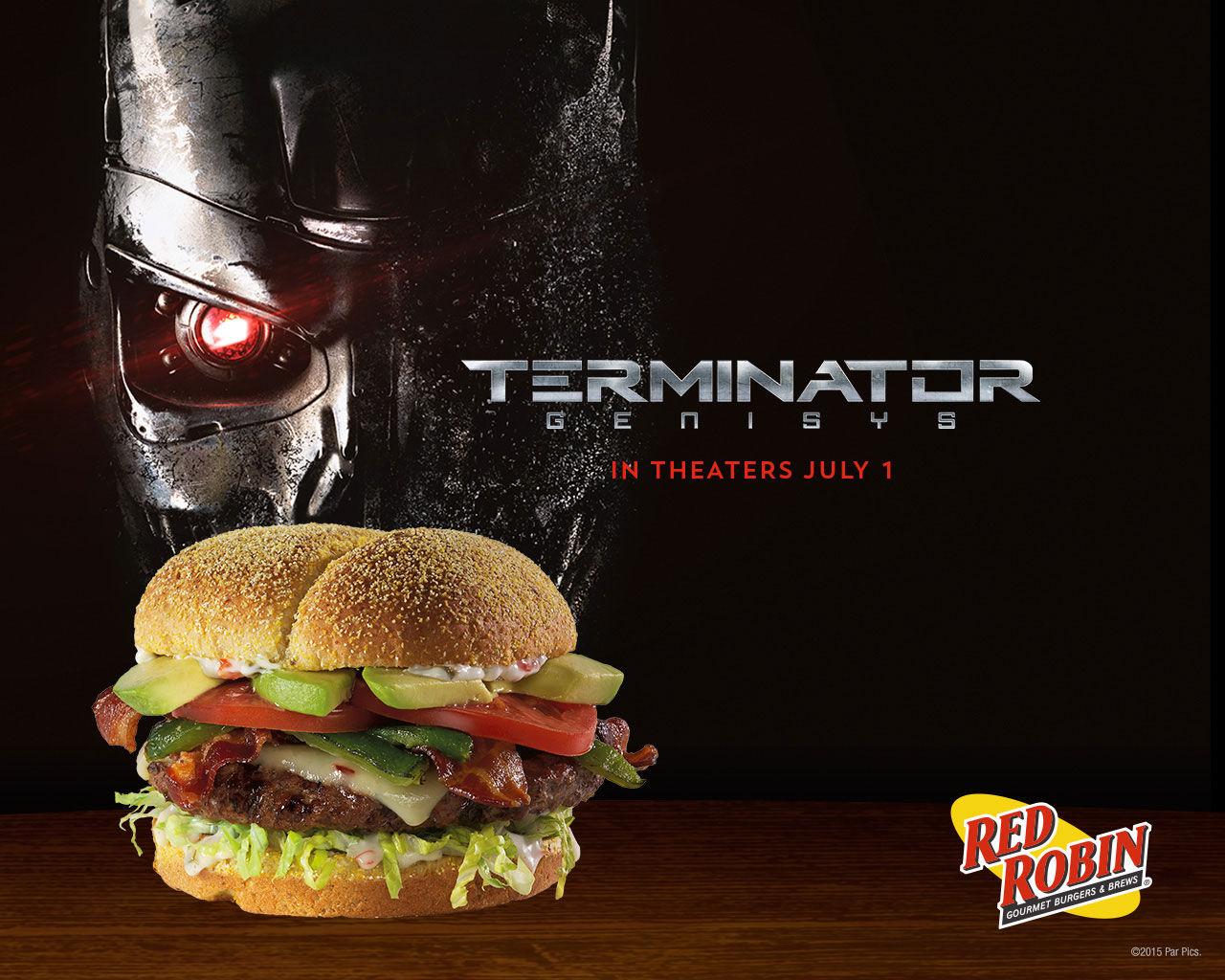 Hamburgare med Terminator-tema hos Red Robin